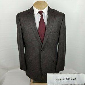Jospeh Abboud Mens Sport Coat 42L Silk Blend Brown